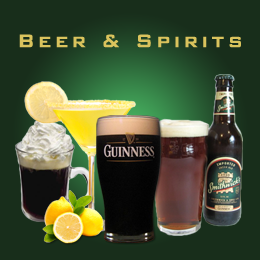 Beer and Spirits at Groggs Traditional Irish Pub